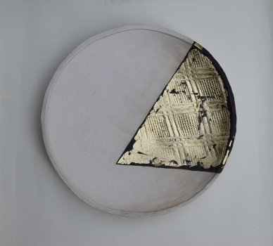 1548677568-5c4ef1c0d761e-rotation-2-15in-dia-stoneware-clay-stain-gold-leaf-2018.jpg